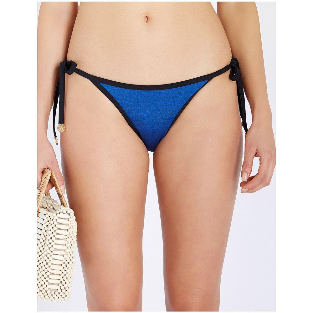 マイラ MYLA レディース ボトムのみ 水着・ビーチウェア【Penny Fields tie-side bikini bottoms】Blue and black