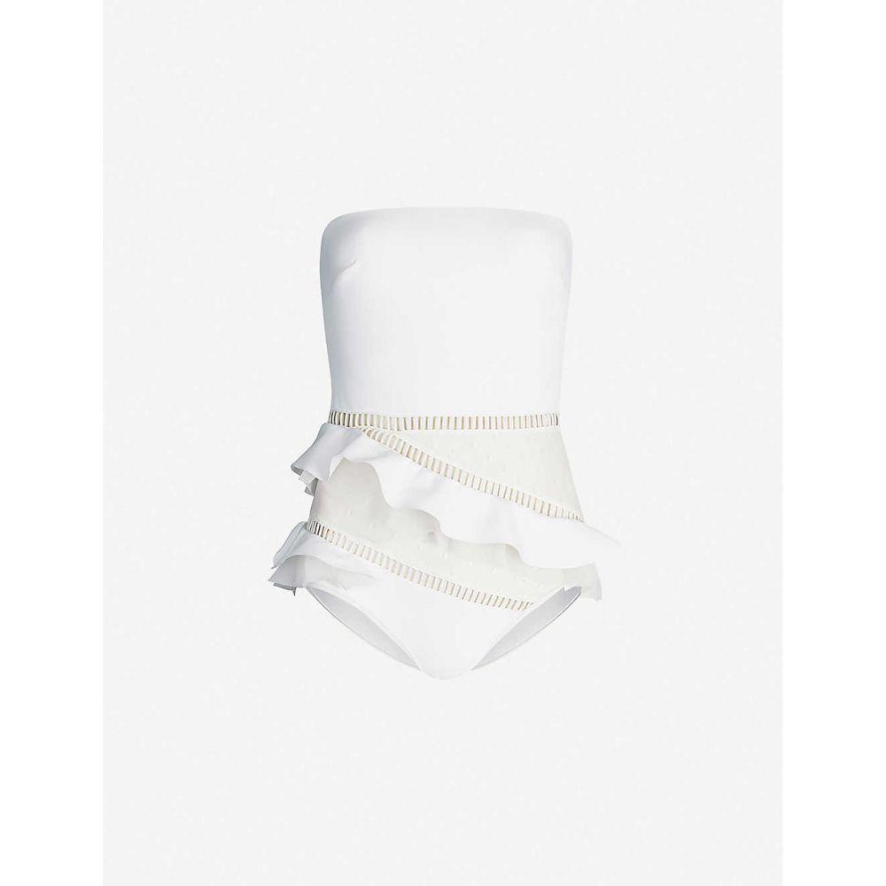 ジマーマン ZIMMERMANN レディース ワンピース 水着・ビーチウェア【Allia mesh-panel swimsuit】Ivory