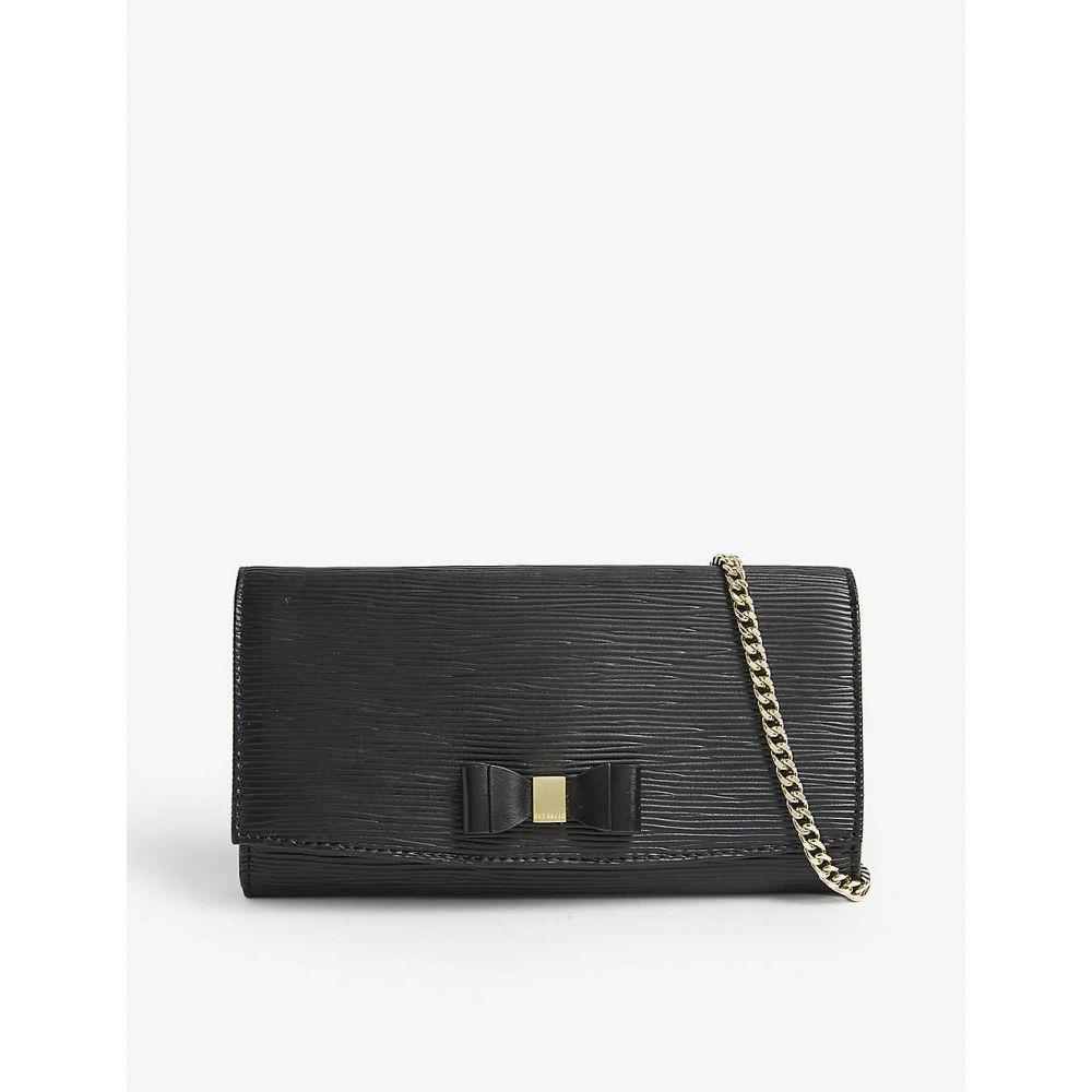 テッドベーカー TED BAKER レディース 財布 チェーンウォレット【Zea bow detail leather wallet-on-chain】Black