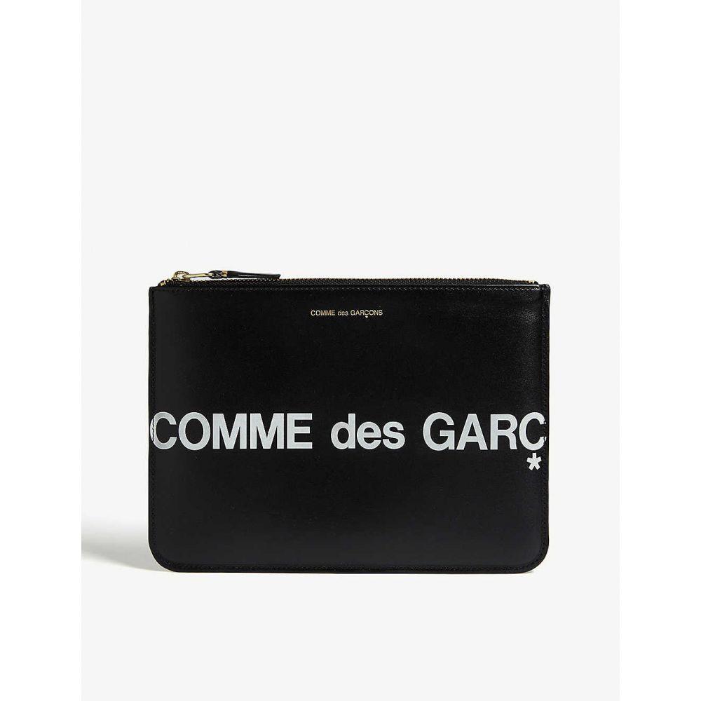 コムデギャルソン COMME POCKET レディース ポーチ 【Logo leather pouch】Black white