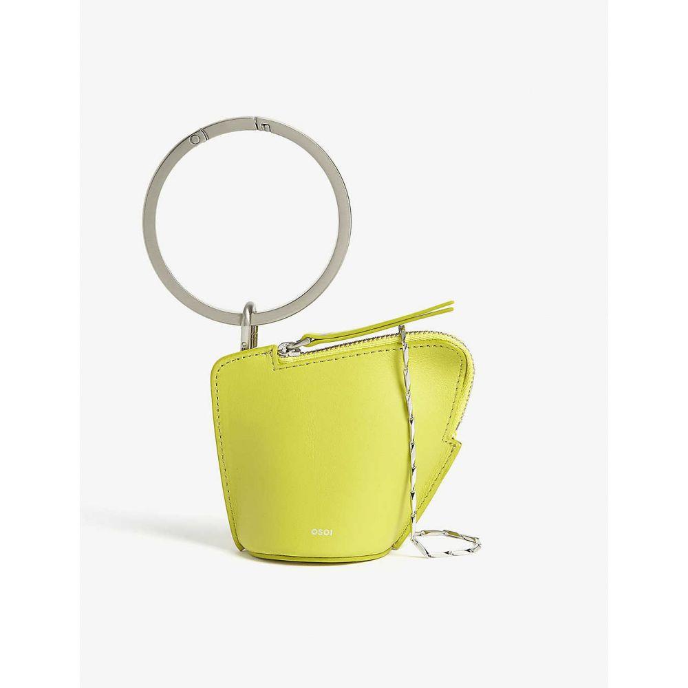 オソイ OSOI レディース ショルダーバッグ バッグ【Banglering leather three-in-one pouch】Lime Green