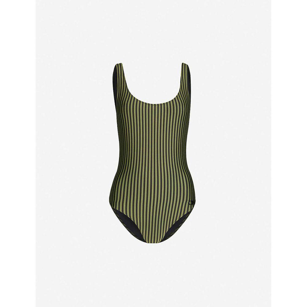 ソリッド&ストライプ SOLID & STRIPED レディース ワンピース 水着・ビーチウェア【The Anne striped swimsuit】Olive Black Stripe