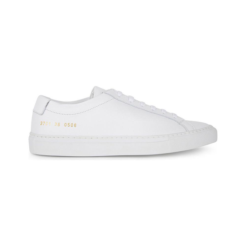 コモン プロジェクト COMMON PROJECTS レディース スニーカー シューズ・靴【Original Achilles leather low-top trainers】WHITE MONO