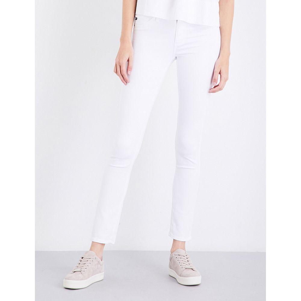 エージー AG レディース ジーンズ・デニム ボトムス・パンツ【Prima cigarette mid-rise jeans】WHITE