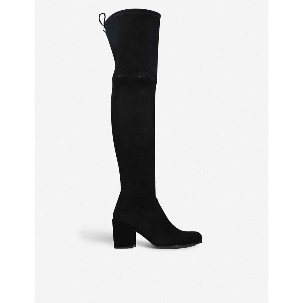 スチュアート ワイツマン STUART WEITZMAN レディース ブーツ シューズ・靴【Tieland velvet over-the-knee boots】BLACK