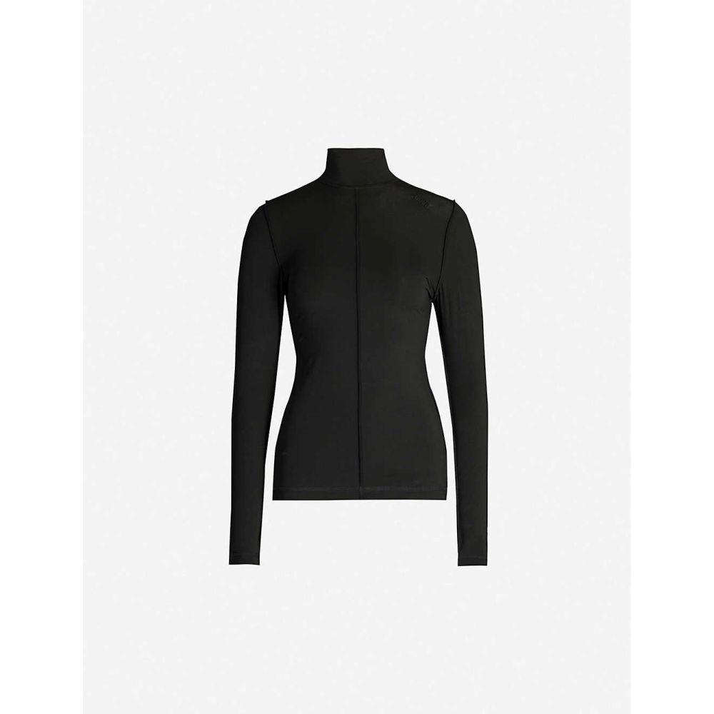 ガニー GANNI レディース トップス 【High-neck stretch-jersey top】Black