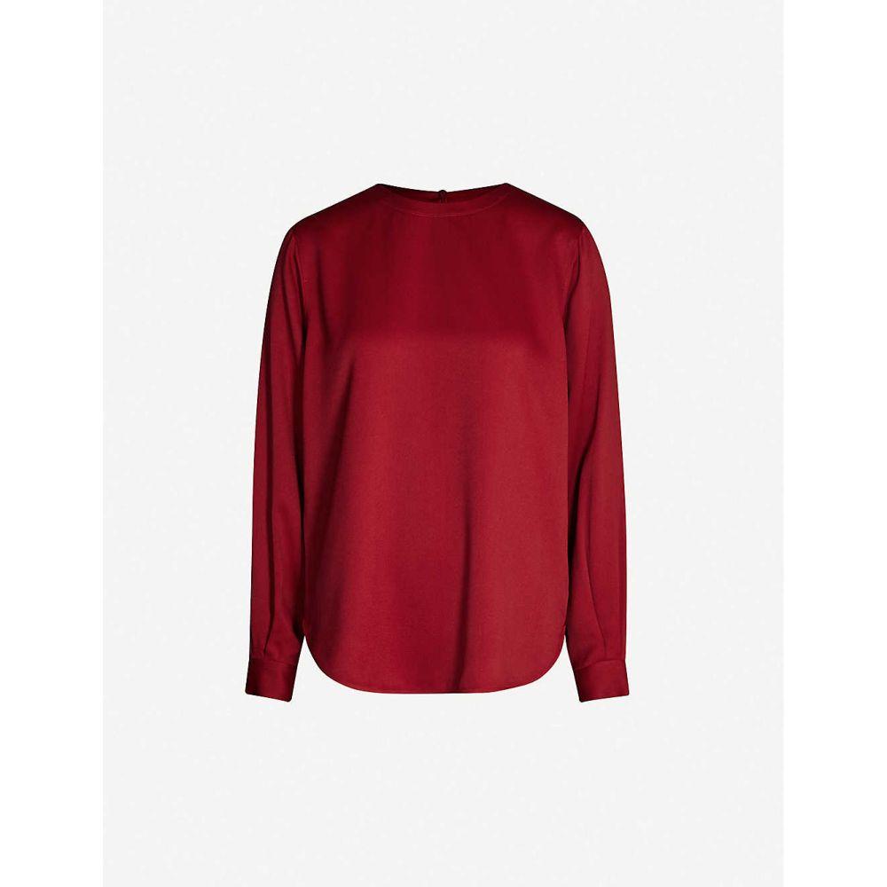 ジョゼフ JOSEPH レディース ブラウス・シャツ トップス【Elliot Light Cady blouse】Ruby