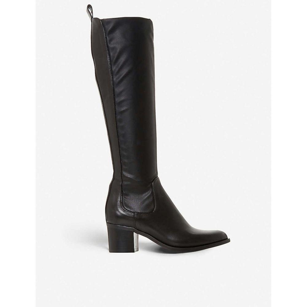 デューン DUNE レディース ブーツ シューズ・靴【Telling leather knee-high boots】BLACK