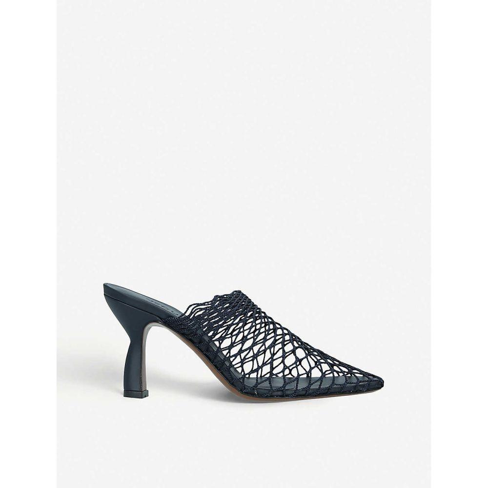 ネオアス NEOUS レディース サンダル・ミュール シューズ・靴【Bophy lattice netting mules】NAVY