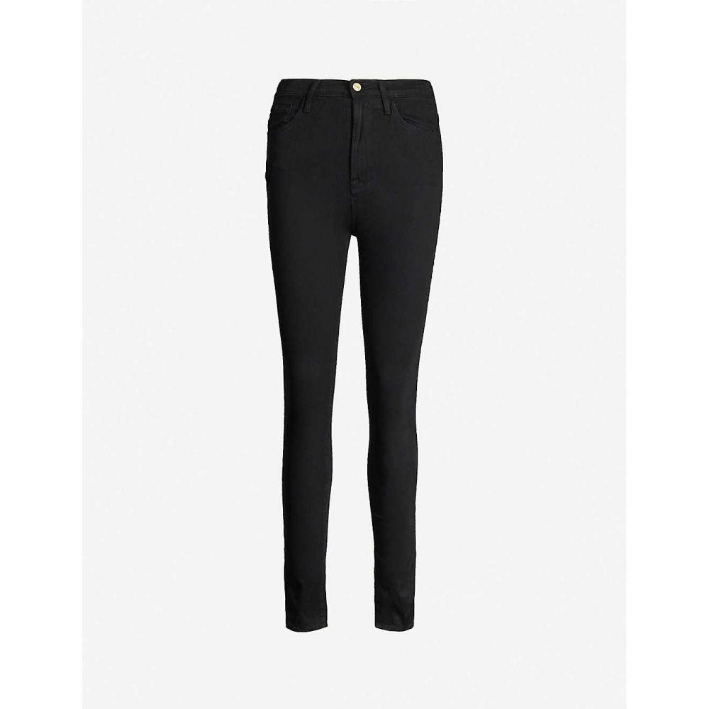 フレーム FRAME レディース ジーンズ・デニム ボトムス・パンツ【Ali high-rise skinny stretch-denim jeans】NOIR