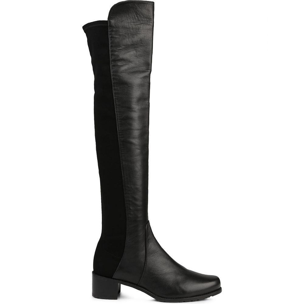 スチュアート ワイツマン STUART WEITZMAN レディース ブーツ シューズ・靴【Reserve stretch-back leather boots】BLACK