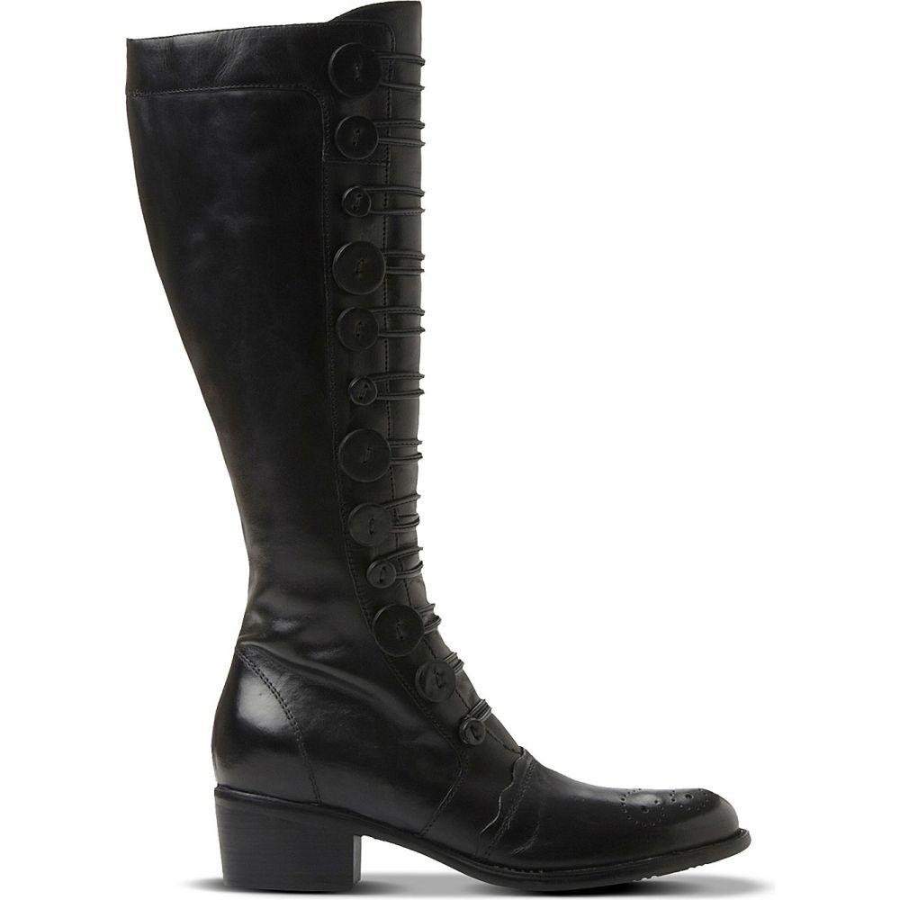 デューン DUNE レディース ブーツ シューズ・靴【Pixie d leather knee-high boots】Black-leather