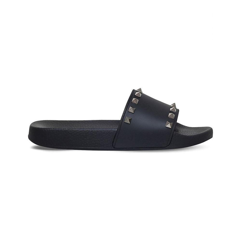 ヴァレンティノ VALENTINO レディース サンダル・ミュール シューズ・靴【Rockstud rubber slider sandals】Black