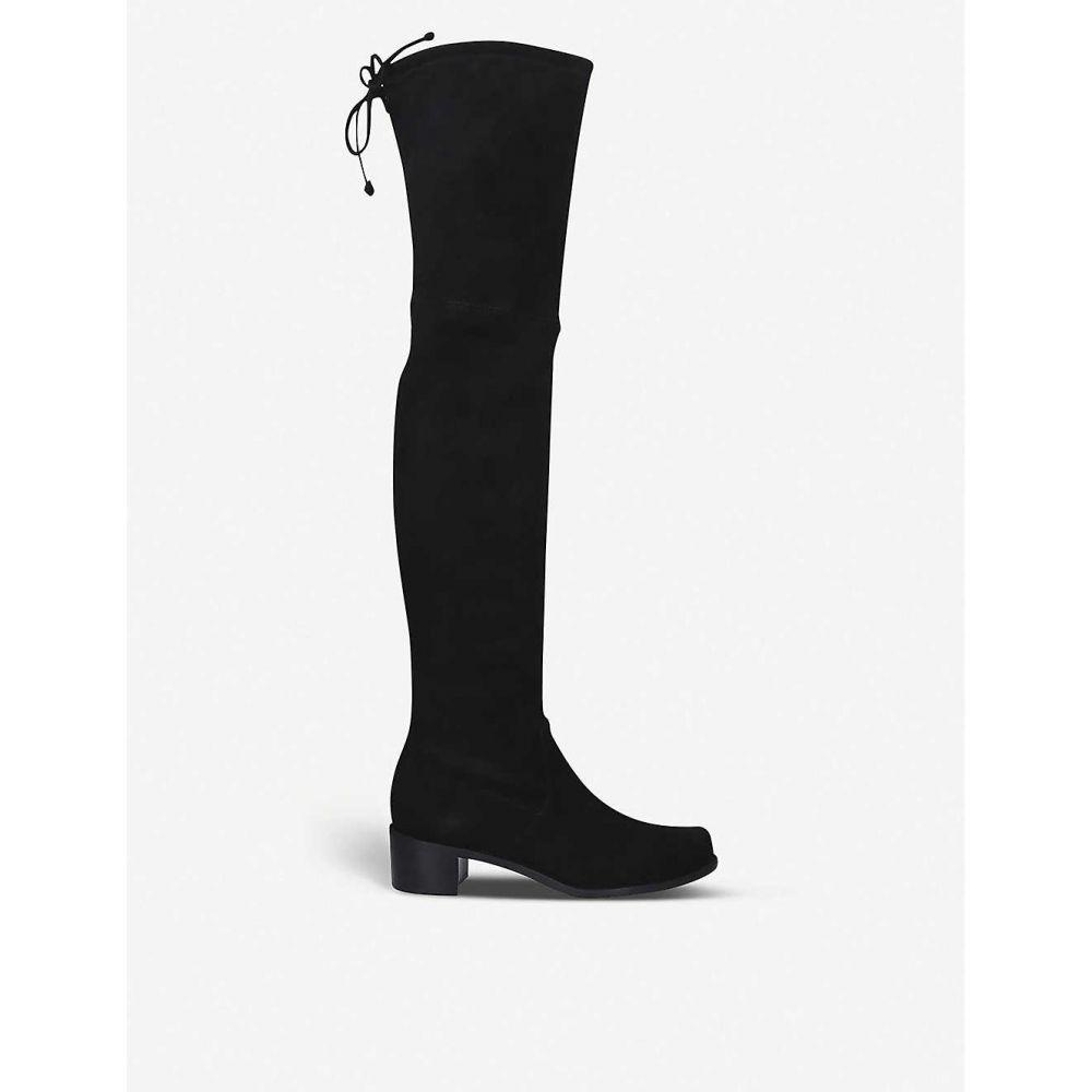 スチュアート ワイツマン STUART WEITZMAN レディース ブーツ シューズ・靴【Midland over-the-knee suede boots】Black