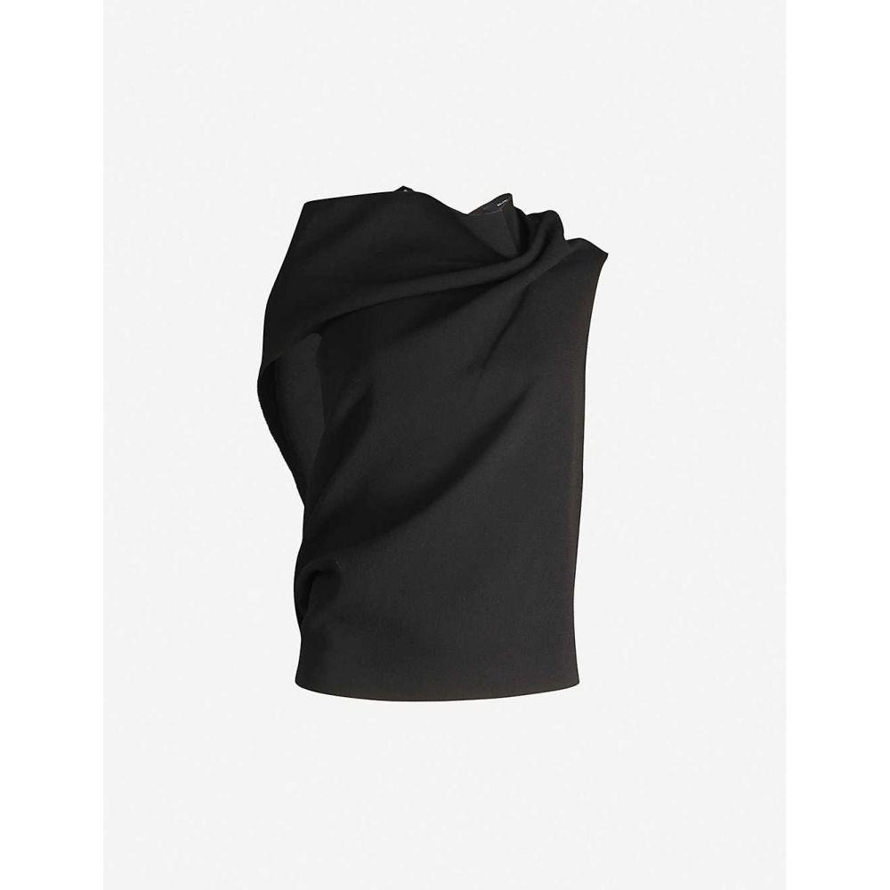 ローラン ムレ ROLAND MOURET レディース トップス 【Eugene asymmetric wool top】BLACK