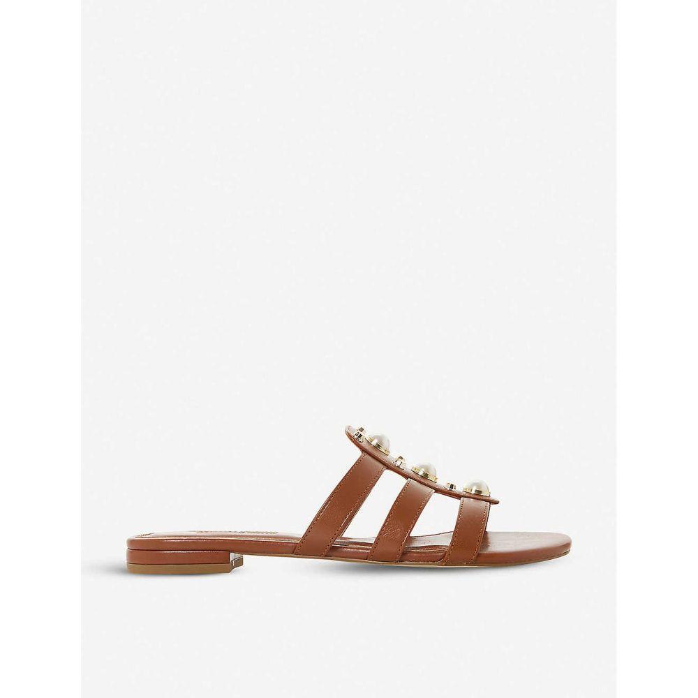 デューン DUNE レディース サンダル・ミュール シューズ・靴【Nikole leather slip-on sandals】Tan-leather