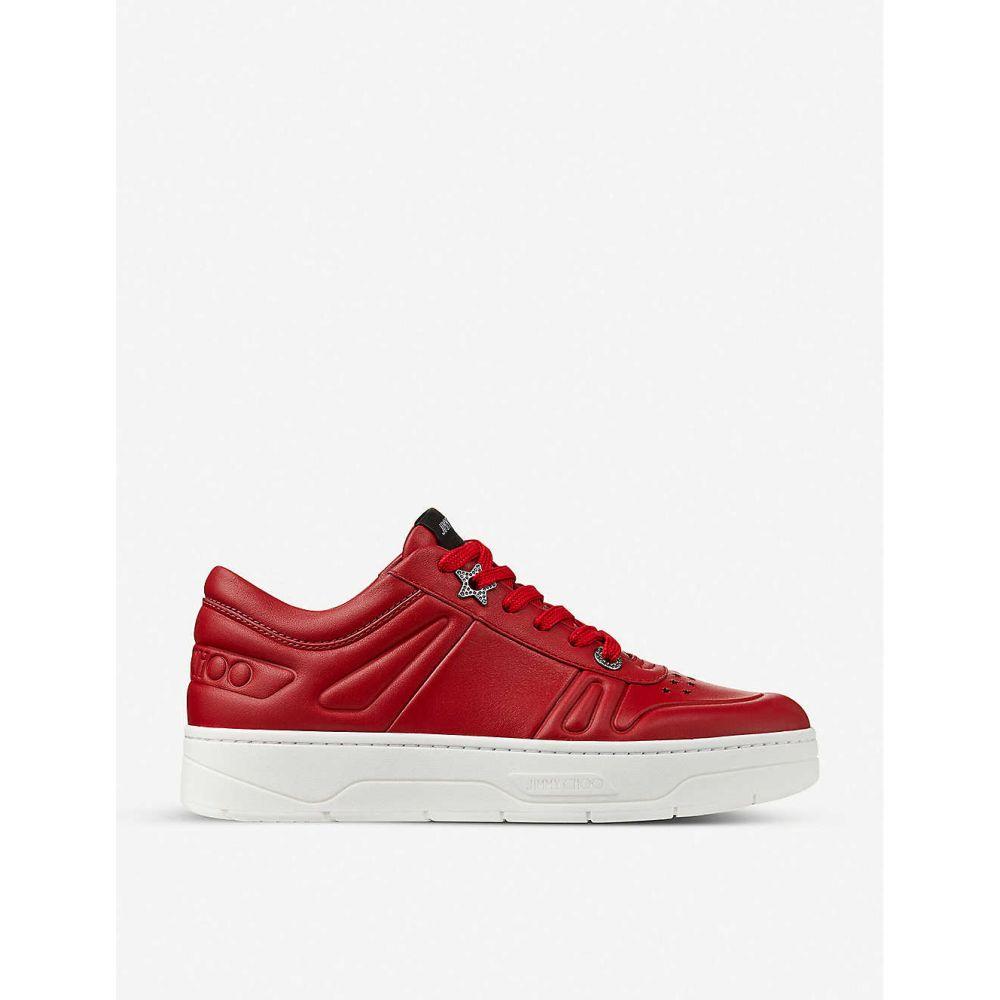 ジミー チュウ JIMMY CHOO レディース スニーカー シューズ・靴【Hawaii leather flatform trainers】X RED