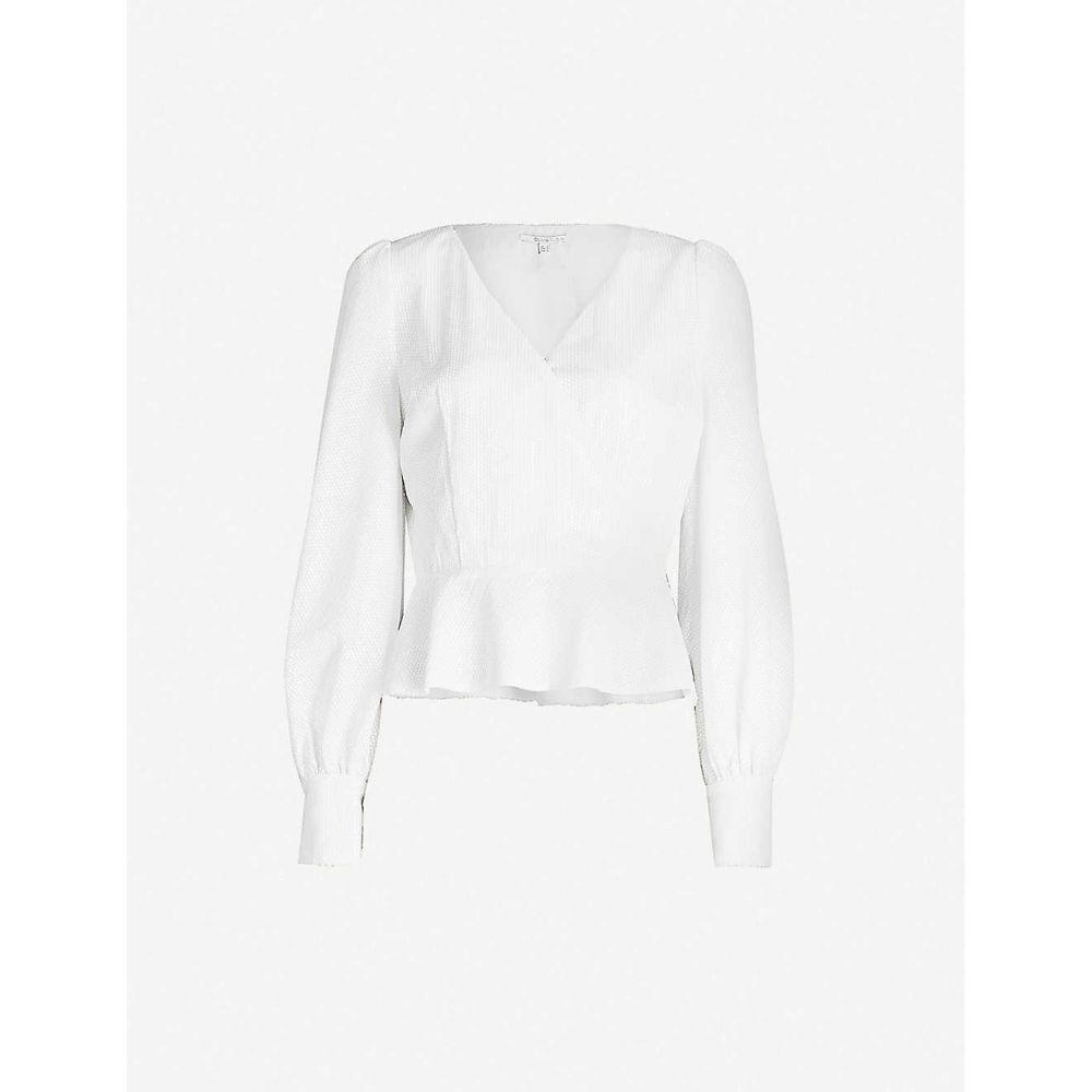 オリビアルービン OLIVIA RUBIN レディース トップス 【Catie puffed-sleeve sequinned top】WHITE