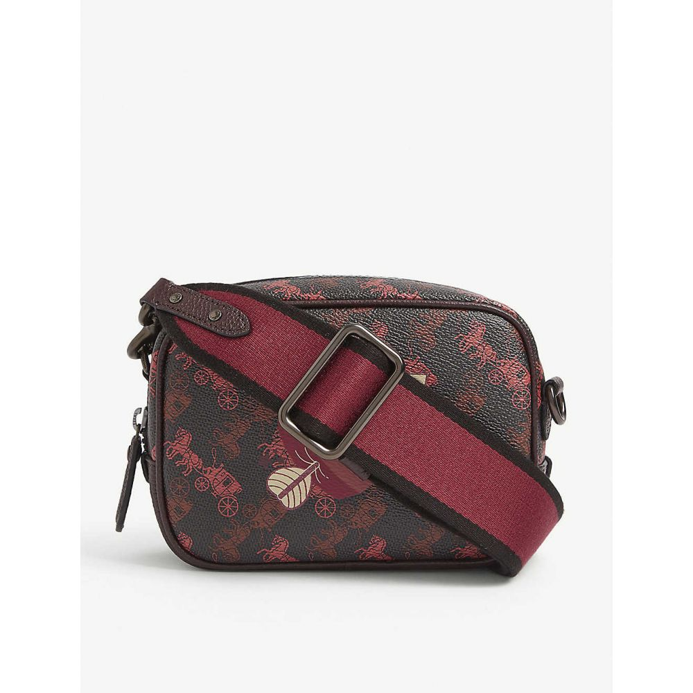 コーチ COACH レディース ショルダーバッグ バッグ【1941 heart monogram canvas cross-body bag】BLACK/OXBLOOD