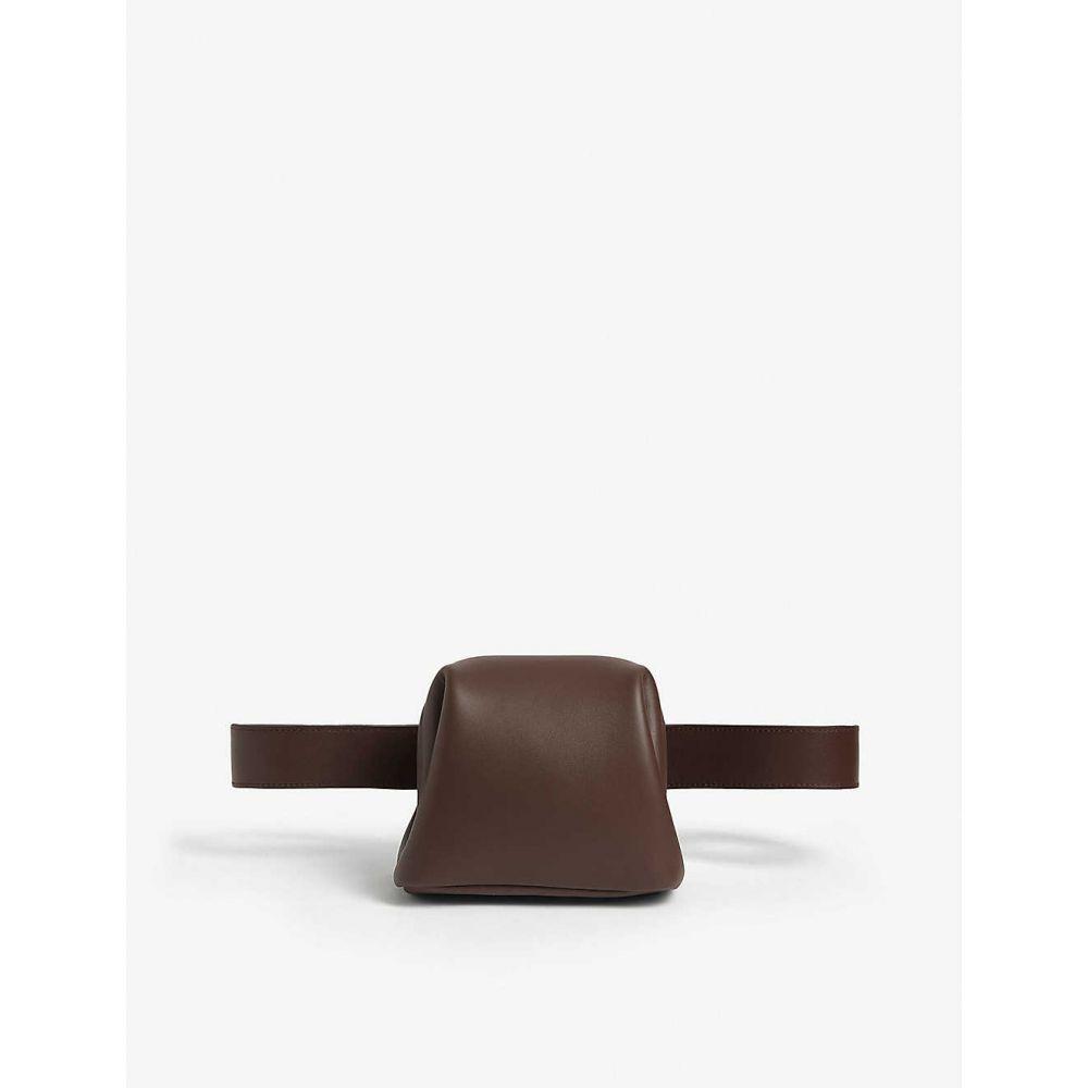 オソイ OSOI レディース ボディバッグ・ウエストポーチ バッグ【Brot leather belt bag】Choco Brown