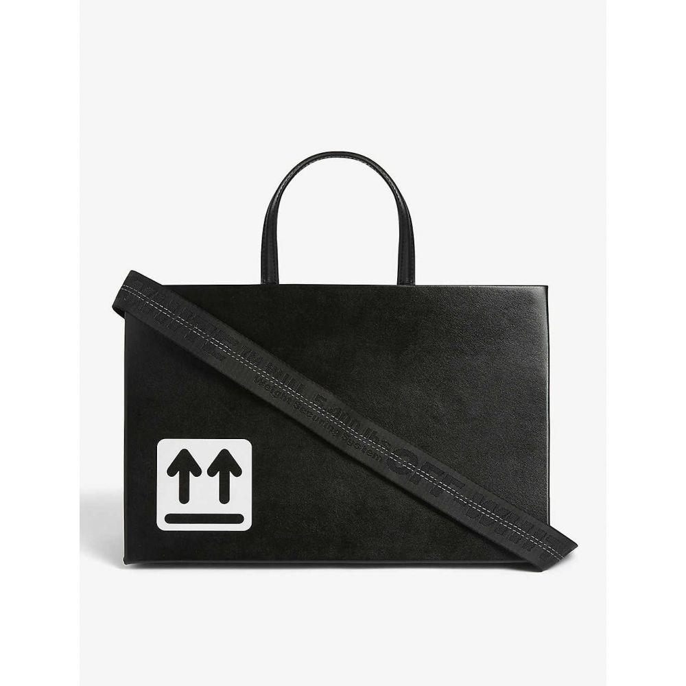 オフホワイト OFF-WHITE C/O VIRGIL ABLOH レディース ハンドバッグ バッグ【Leather box bag】BLACK