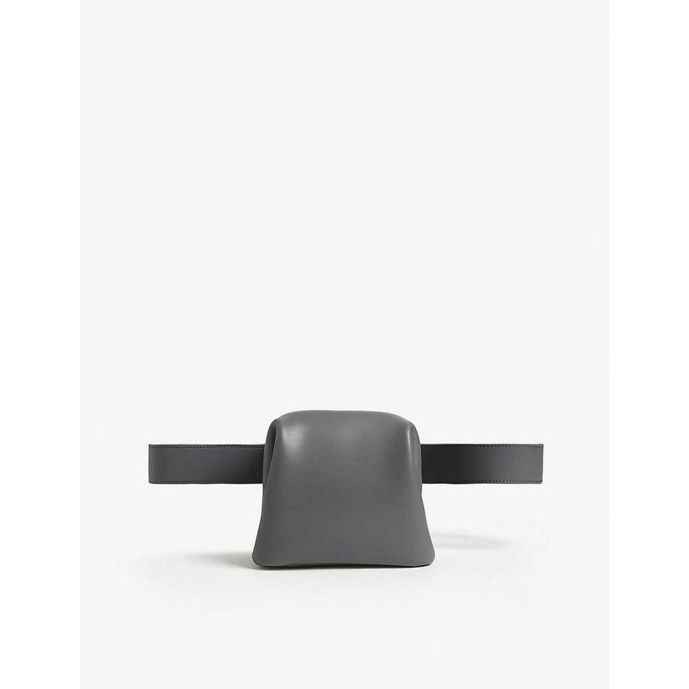 オソイ OSOI レディース ボディバッグ・ウエストポーチ バッグ【Brot leather belt bag】Cool Gray