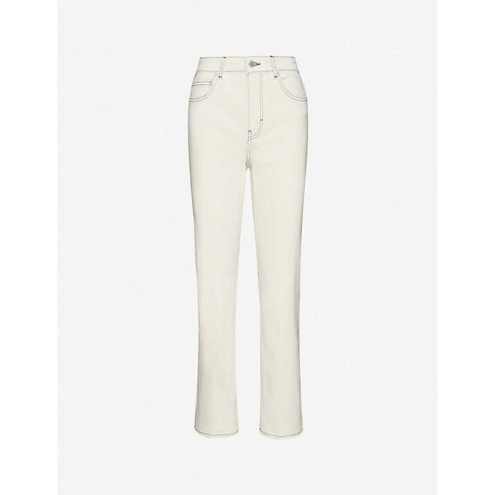 マージュ MAJE レディース ジーンズ・デニム ボトムス・パンツ【Purete slim-fit jeans straight high-rise jeans】ECRU