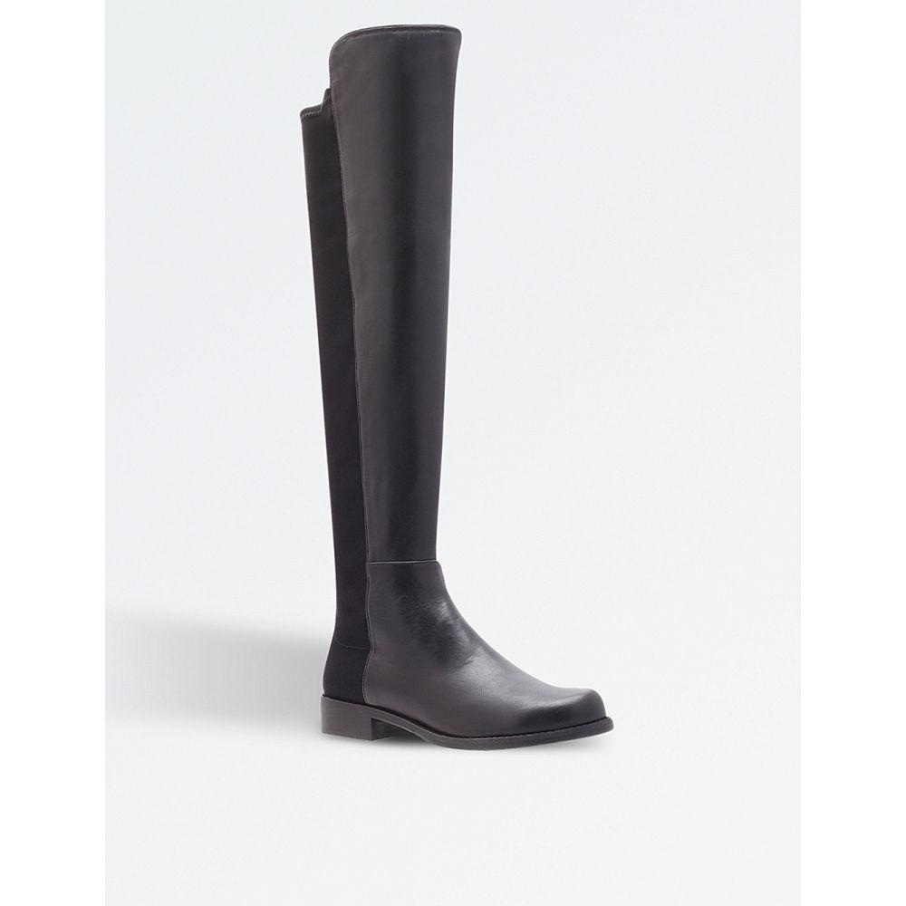 スチュアート ワイツマン STUART WEITZMAN レディース ブーツ シューズ・靴【50/50 knee high suede and leather boots】Black