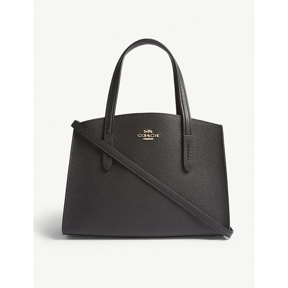 コーチ COACH レディース ショルダーバッグ バッグ【Charlie small grained leather shoulder bag】Li/black
