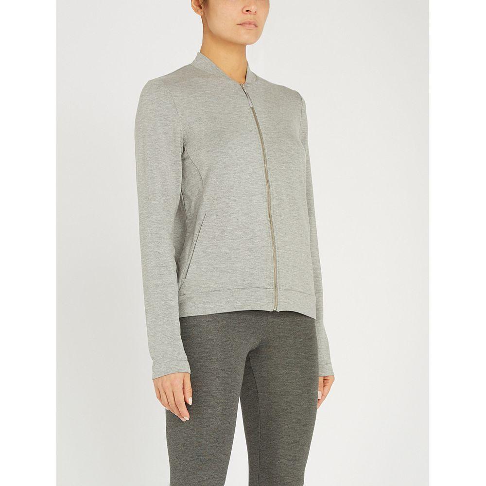 ハンロ HANRO レディース ジャケット アウター【Balance stretch-jersey zip-up jacket】Balance melange