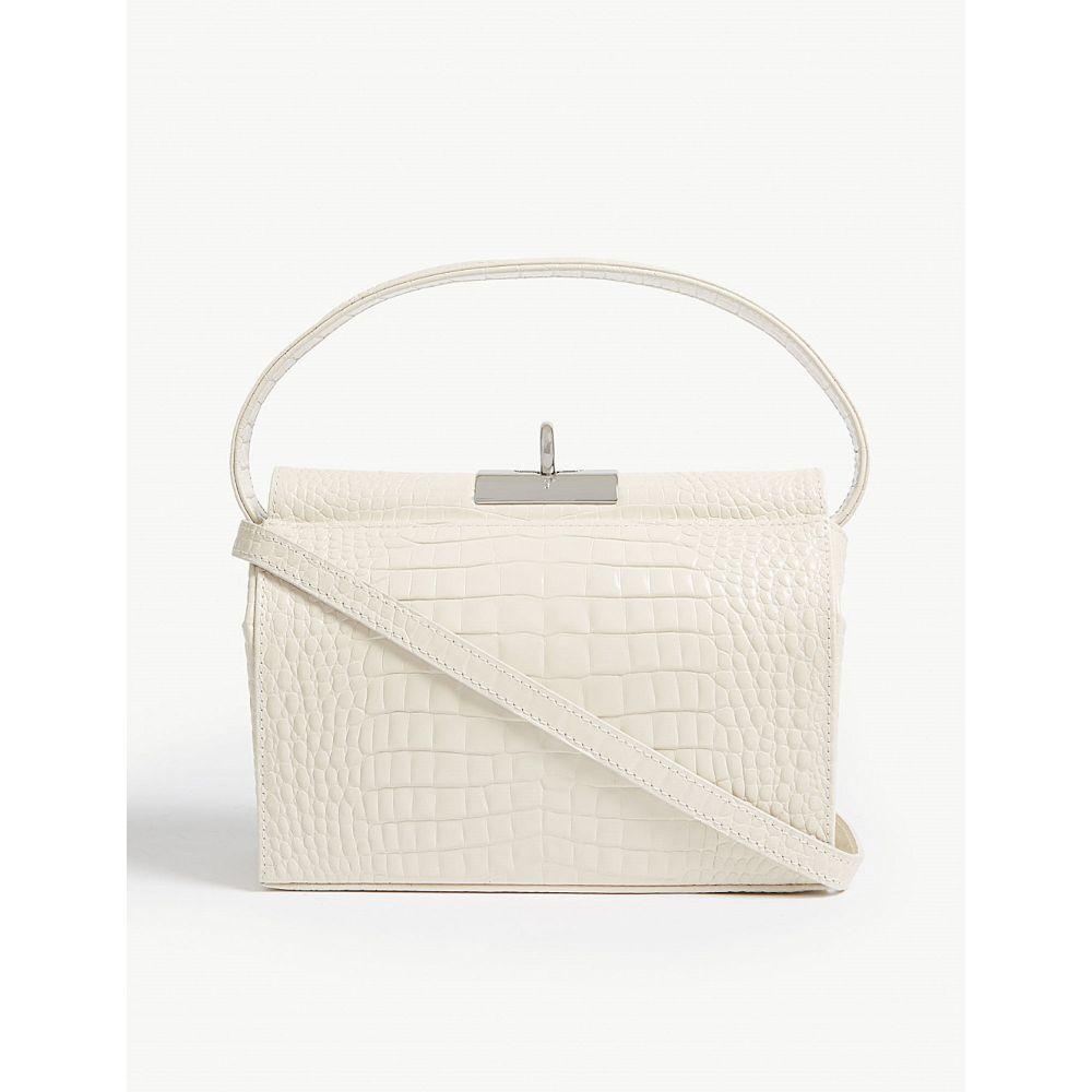 GU DE レディース ショルダーバッグ バッグ【Croc-embossed leather bag】White