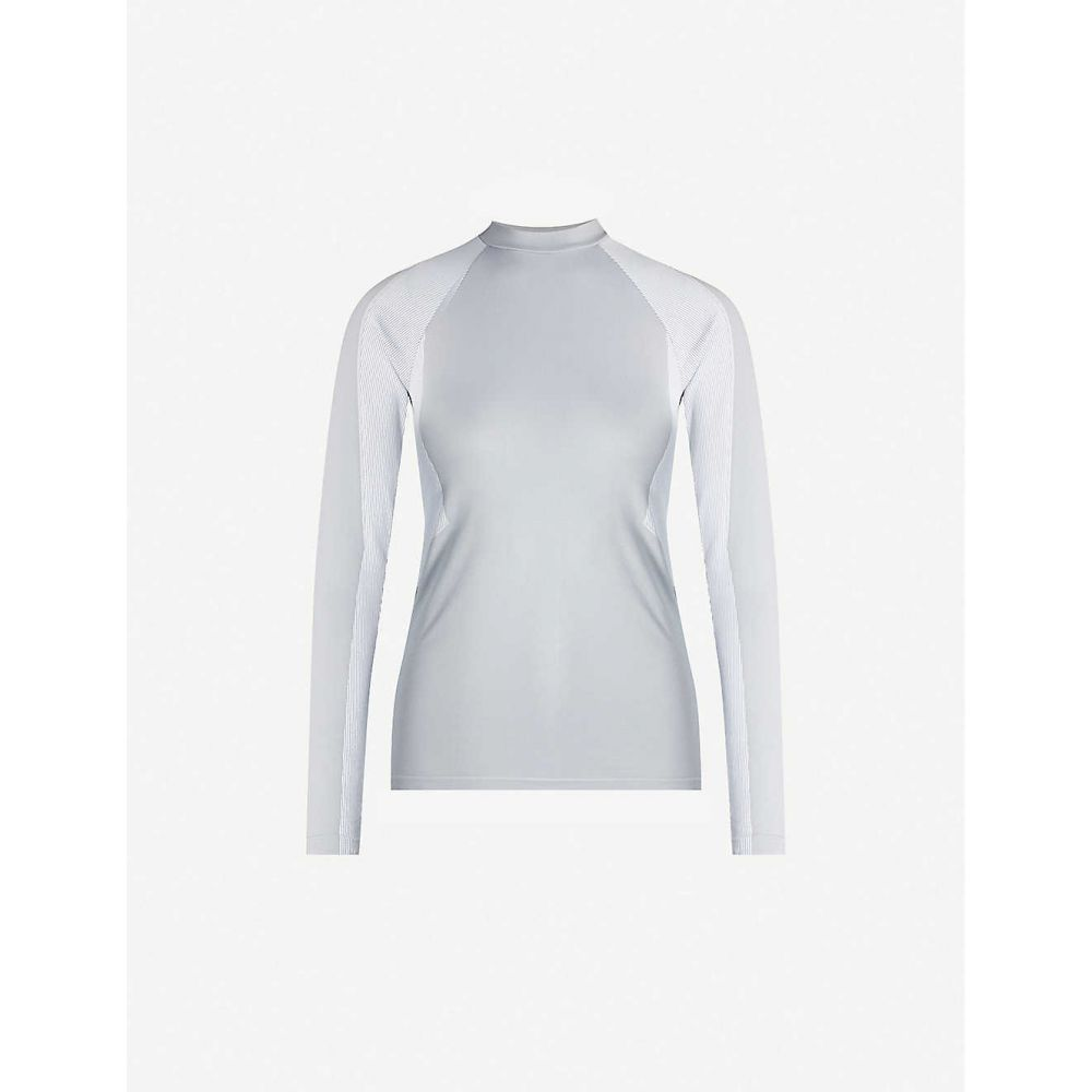 ファルケ FALKE ERGONOMIC SPORT SYSTEM レディース トップス 【Maximum Warm stretch-jersey top】Fume White
