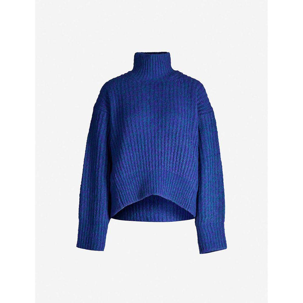 サムソエ&サムソエ SAMSOE & SAMSOE レディース ニット・セーター トップス【Lise oversized knitted jumper】Deep Blue Mel