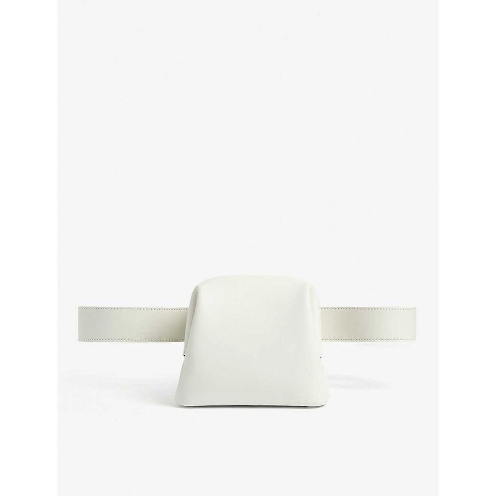 オソイ OSOI レディース ボディバッグ・ウエストポーチ バッグ【Brot leather belt bag】White