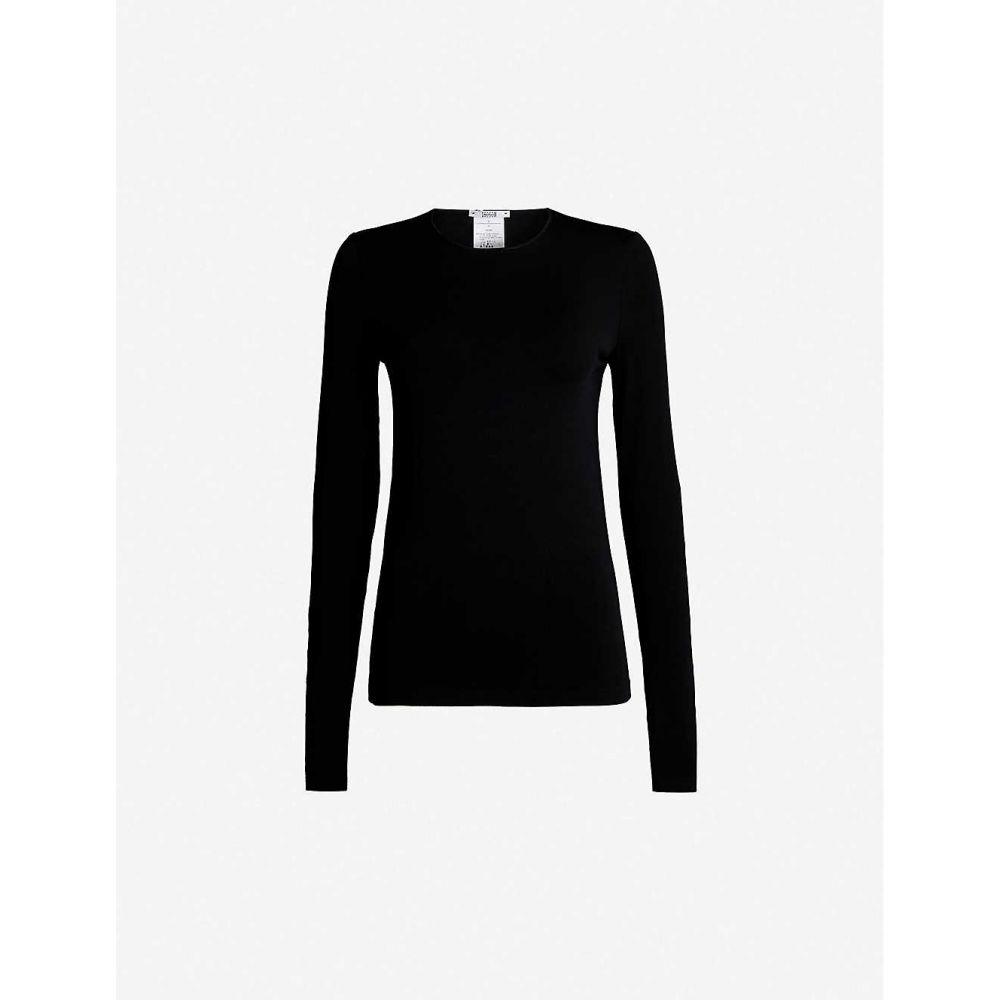 ウォルフォード WOLFORD レディース トップス 【Round-neck stretch-jersey top】Black
