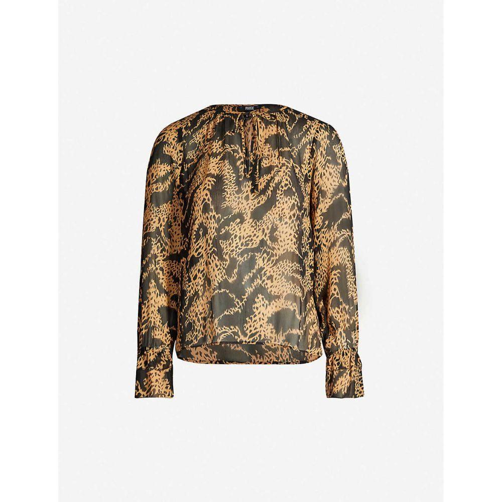 ペイジ PAIGE レディース ブラウス・シャツ トップス【Jojie printed silk blouse】Hyde Black