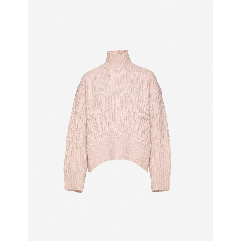 サムソエ&サムソエ SAMSOE & SAMSOE レディース ニット・セーター トップス【Lise oversized knitted jumper】Cafe Creme Mel
