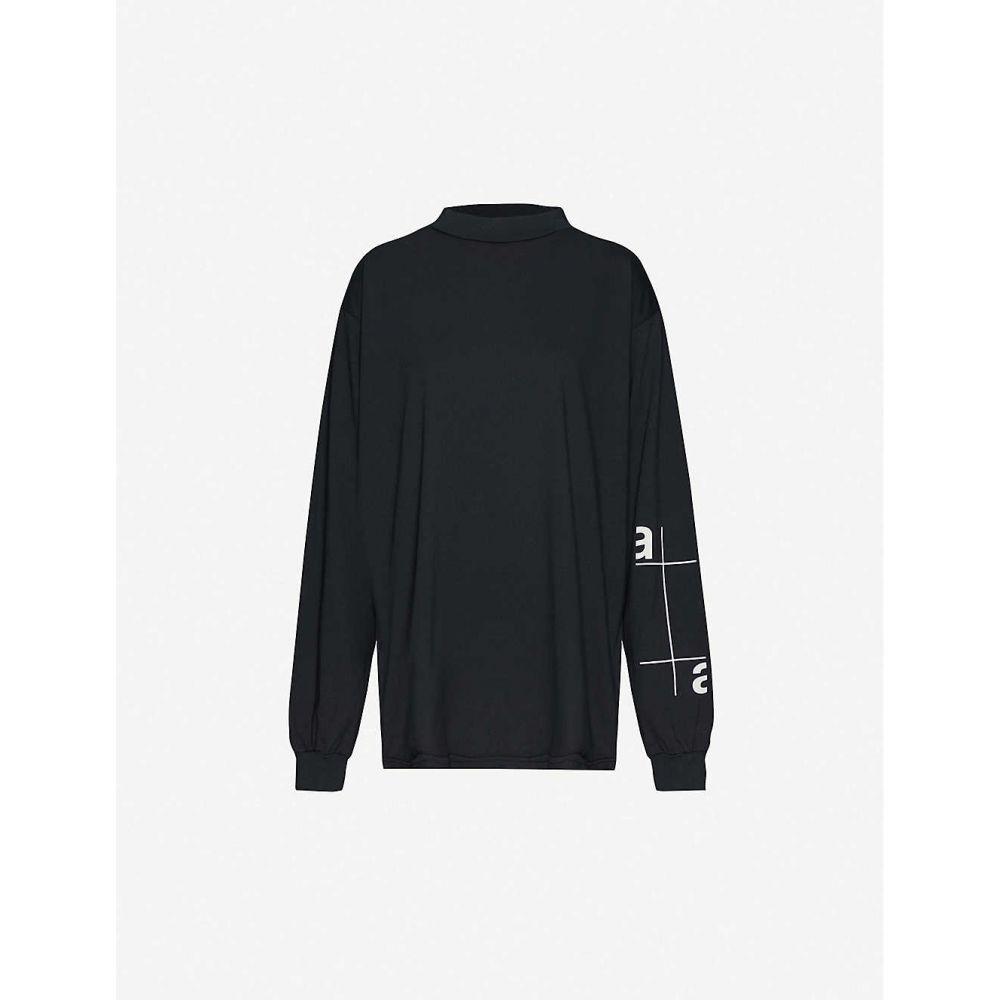 アルティカ アルボックス ARTICA ARBOX レディース トップス 【Logo-print jersey top】BLACK