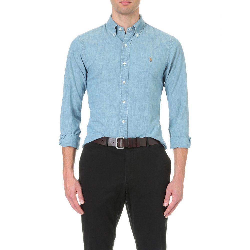ラルフ ローレン POLO RALPH LAUREN メンズ シャツ デニム トップス【Slim-fit single-cuff denim shirt】Medium wash