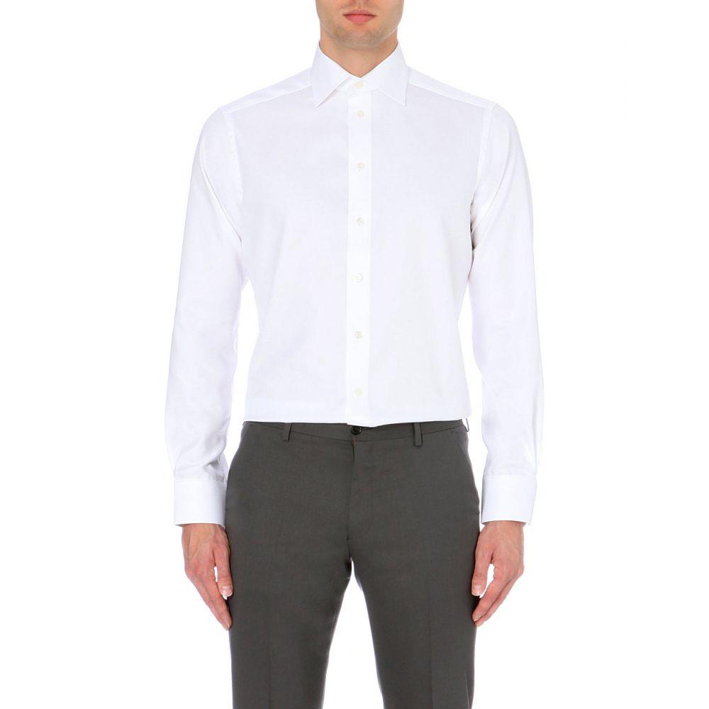 イートン ETON メンズ シャツ トップス【Contemporary-fit single-cuff cotton-twill shirt】White