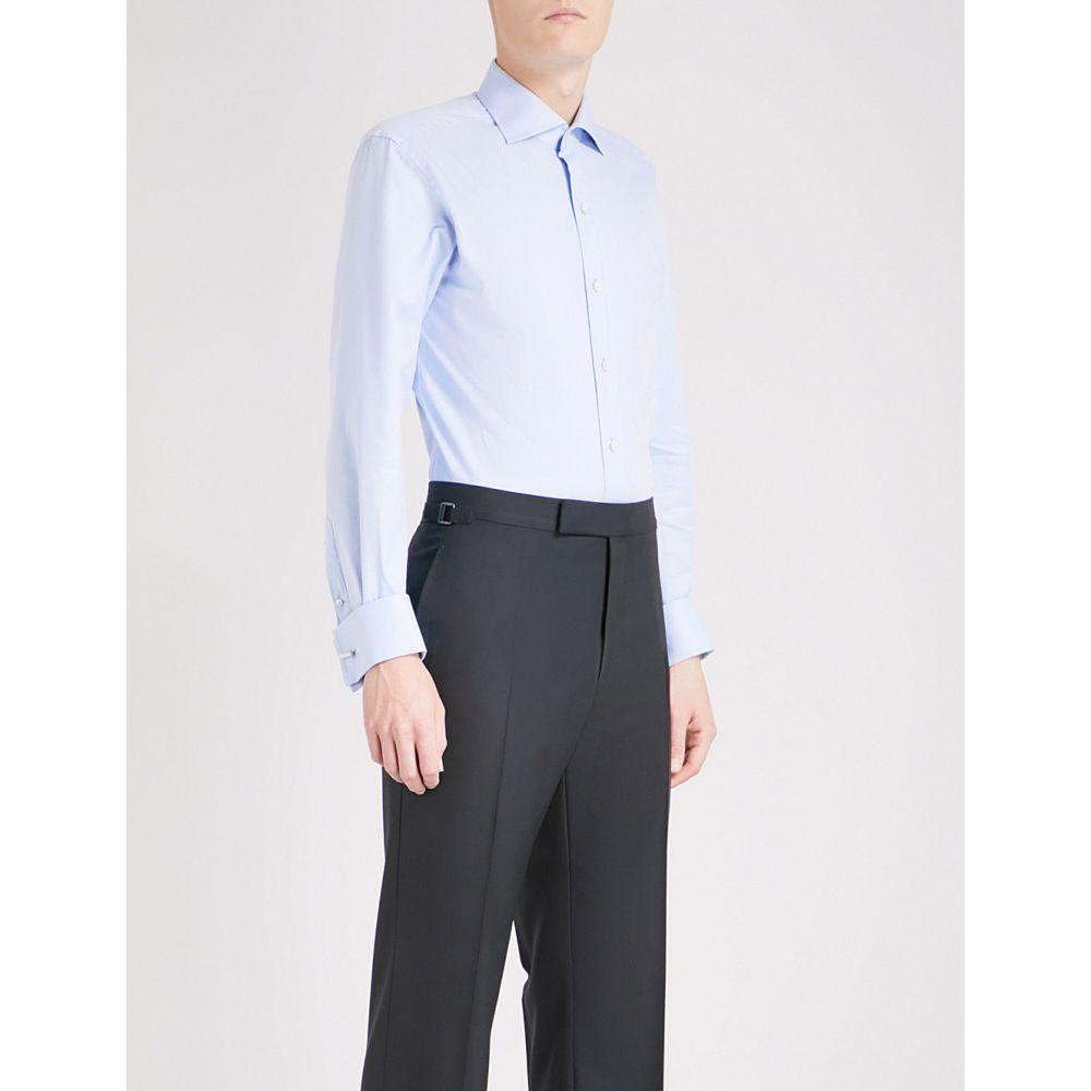 トム フォード TOM FORD メンズ シャツ トップス【Regular-fit cotton-twill shirt】SKY