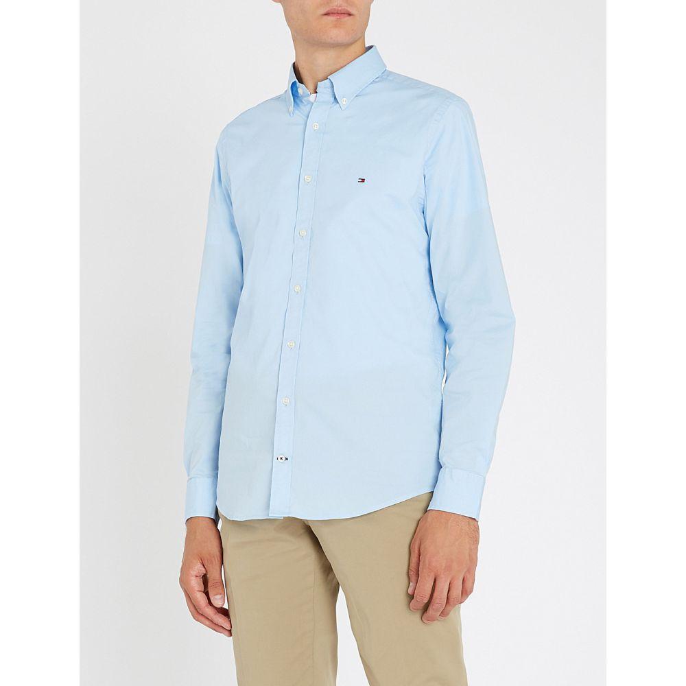 トミー ヒルフィガー TOMMY HILFIGER メンズ シャツ トップス【Slim-fit stretch-cotton shirt】Shirt blue