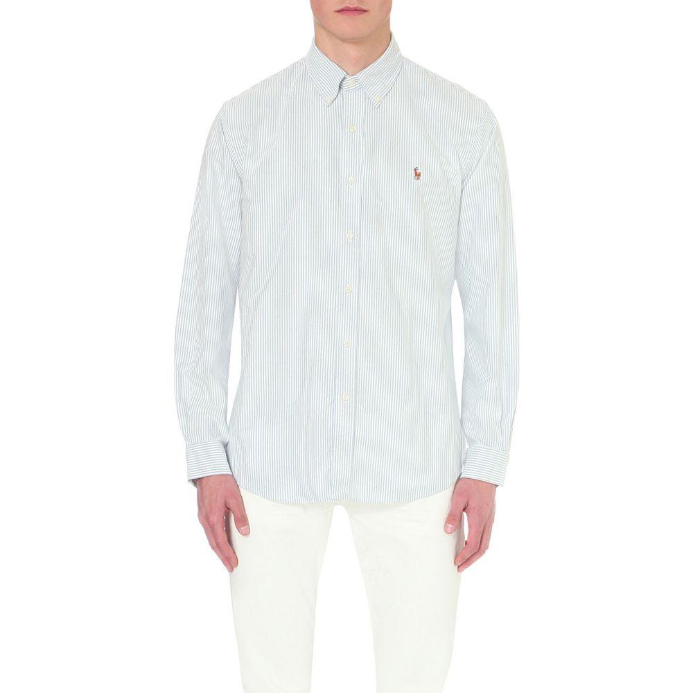 ラルフ ローレン POLO RALPH LAUREN メンズ シャツ トップス【Standard-fit single-cuff cotton shirt】Bsr blu/wht