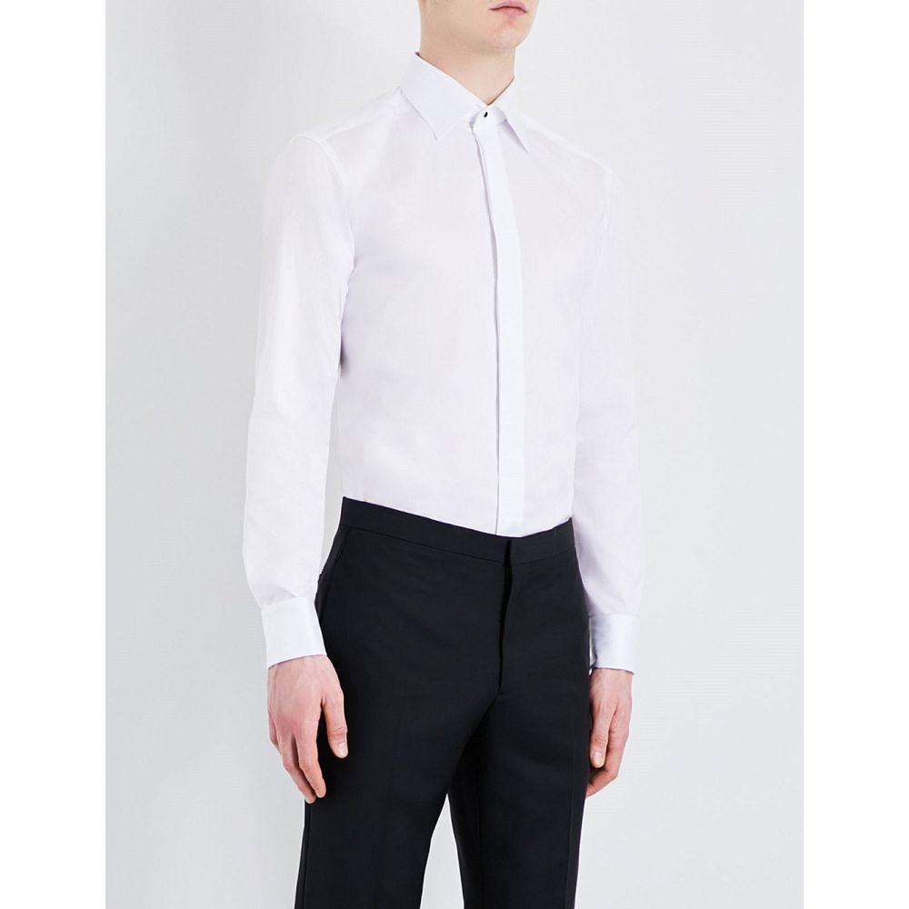 イートン ETON メンズ シャツ トップス【Slim-fit cotton shirt】White