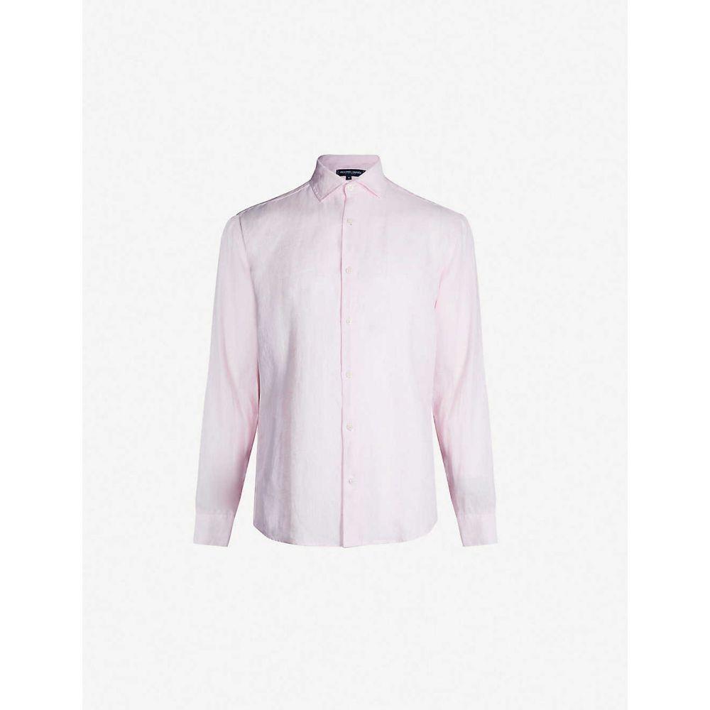フレスコボールカリオカ FRESCOBOL CARIOCA メンズ シャツ トップス【Regular-fit linen shirt】Pink