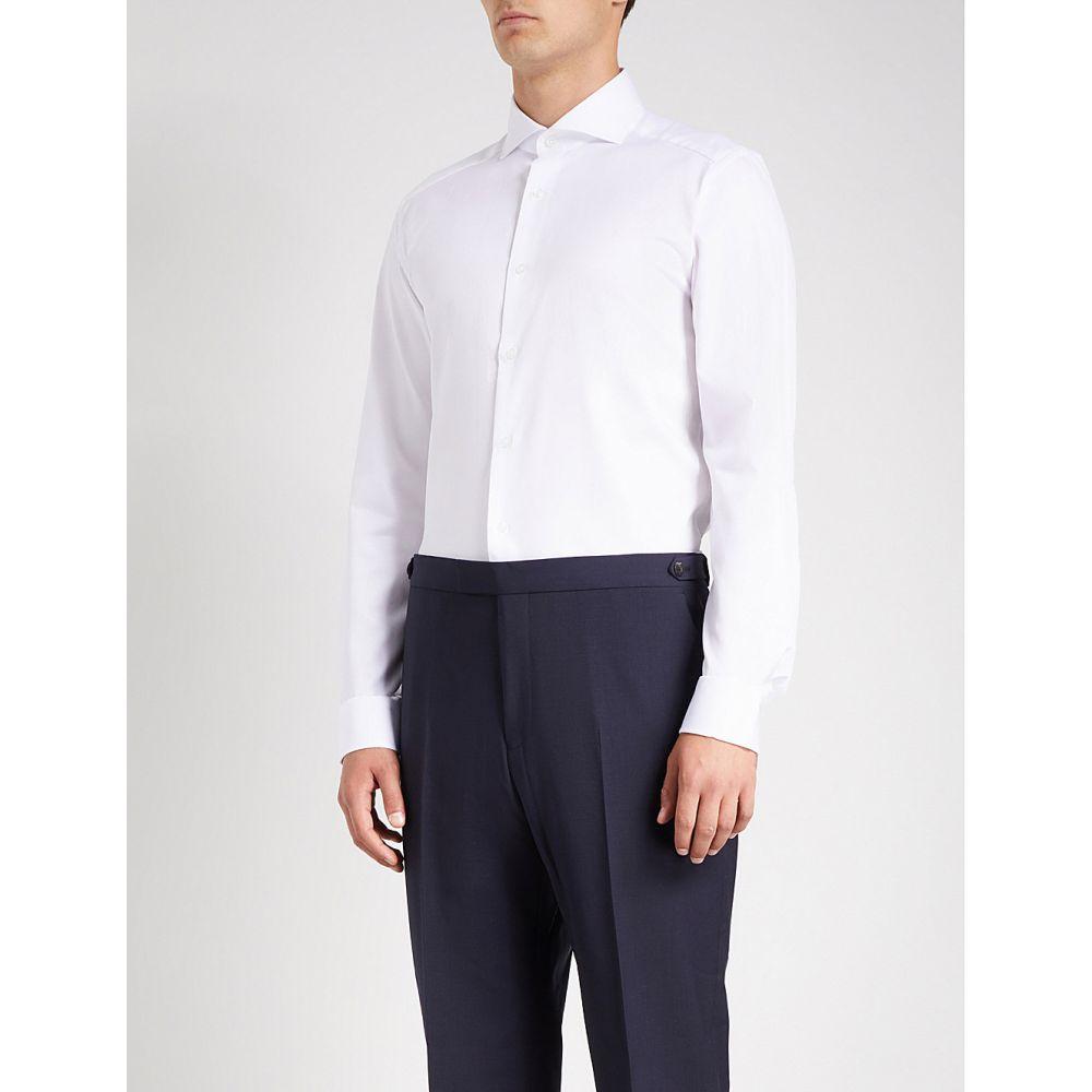 リース REISS メンズ シャツ トップス【Storm slim-fit cotton-poplin shirt】White