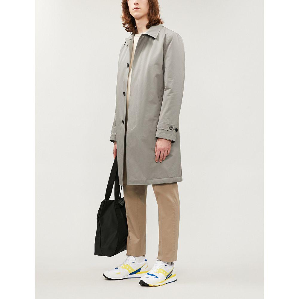 リース REISS メンズ トレンチコート アウター【Toyomasa shell cotton trench coat】Sage