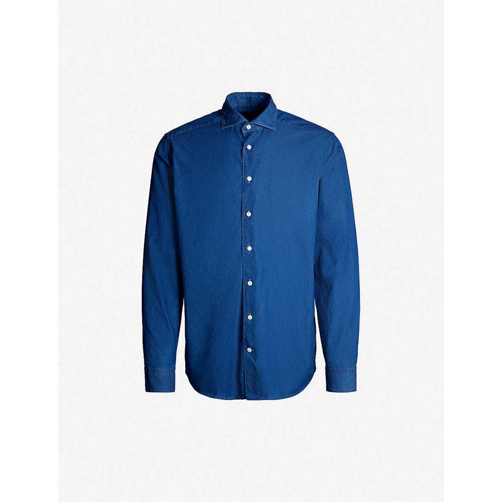 イートン ETON メンズ シャツ トップス【Soft Business cotton shirt】Blue