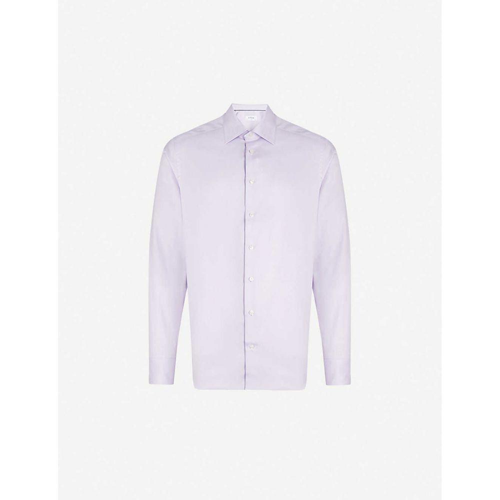イートン ETON メンズ シャツ トップス【Slim-fit cotton shirt】Purple