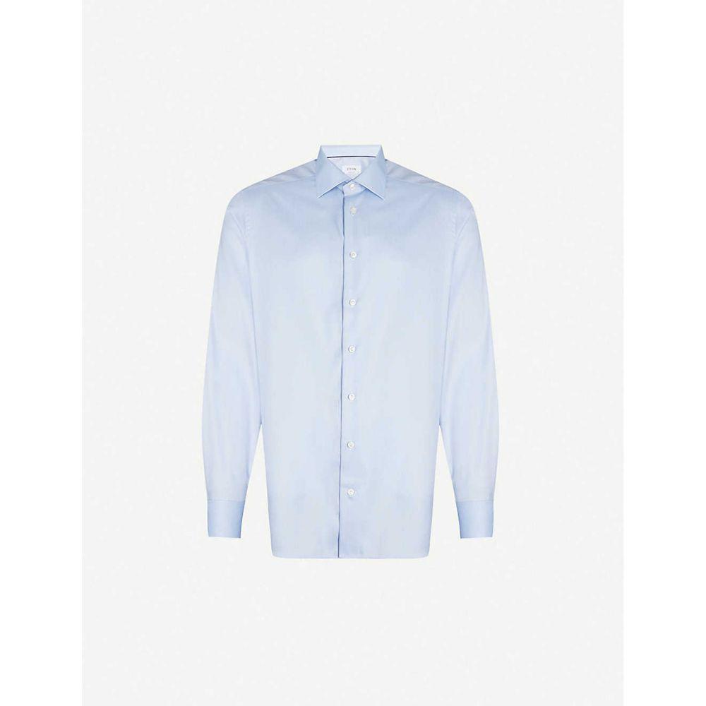 イートン ETON メンズ シャツ トップス【Contemporary-fit cotton shirt】Blue